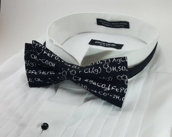 Chemistry Bowtie, Nerdy, Geek Fashion, Bow Tie, Gifts for Him, Math Tie, Gift for Teacher, Dapper, Accessories, Novelty, Science, Algebra