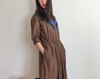 Louis Feraud Dress S, Vintage dress, Colorblock Dress, Silk Dress, Haute Couture , High Fashion, Luxurious Clothing, French Dress