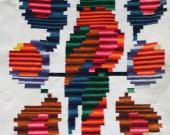 Vintage Parrot Blanket, Mexican Blanket, Serepe Blanket, Statement Blanket Statement Pillow