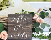 Gifts and Cards Sign, Wedding Gift Table Sign,  Gifts Sign, Wooden Wedding Signs