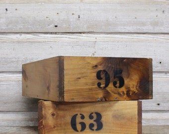 Vintage Storage Box--Industrial Box Square