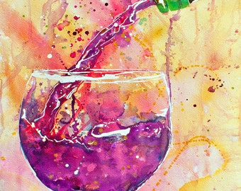 Wine Pour-Art by Jen Callahan Tile,Cuttingboard,Paper Print