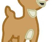 Christmas Boy Reindeer - Red Nosed Deer Fan Art - DIY Applique Design For Embroidery Machines - Instant Download