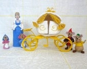 Reserved - Sculptural Composition of Wool - Set of Characters from Fairy Tale Cinderella - Needle Felted