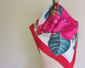 reserved for Tabitha , ROSES silk scarf, Adrienne Vittadini