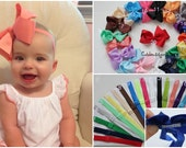PICK 5 - Baby big bow heabdands  - Baby bows and headbands - headband bow baby big - girl bow heabdands - big bow headbands  - toddler girl