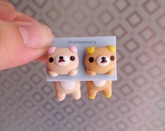 Cute San X Rilakkuma Clinging Earrings