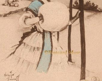 Kathryn Elliott Halloween Lady - New 4x6 Photo From A Vintage Postcard EL001