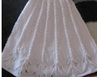 christening gown knit patterns   Etsy