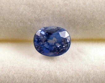 Sapphire: 1.12ct Blue Oval Shape Gemstone, Natural Hand Made Faceted Gem, Loose Precious Corundum Mineral, OOAK Crystal Jewelry Supply 20265