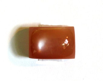 Moonstone Red ~ Square Cabochon Natural Red-Orange Gemstone Designer Cabochon Certified