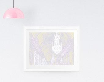 Chandelier Print - Chandelier canvas - Paris print