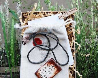 Empowering Pendant Necklace: Rebel Freethinker Non-conformist Conscious - Spiritual Awakening - OOAK Unique Handcrafted Jewelry