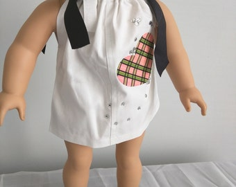 """ONE of a kind """"pillow case"""" dress for AG dolls or other 18 inch dolls!"""