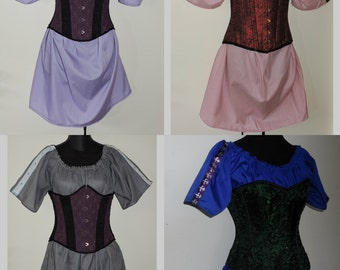 Custom made ladies half length medieval short sleeve chemise with trim MTO Pirate shirt renaissance clothing SCA
