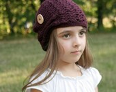 Kelsey Slouchy Hat - crochet pattern - Toddler, Child and Adult sizes - pdf format / eBook
