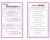DIY Printable Bachelorette Party Games - Scavenger Hunt - Who Knows the Bride Best - INSTANT DOWNLOAD