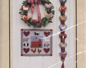 Heart Felt Heritage - Patterns For Bell Pull, Wall hanging, and Wreath - Color Me Patterns - Shirley Stevenson - Felt Applique - Farm Animal