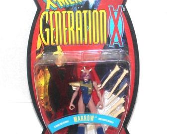 1995 X-Men: Generation X, Marrow Action Figure, Marvel Comics, 1995 Toy Biz, Antique Alchemy