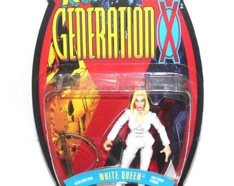 1996 X-Men: Generation X, White Queen Action Figure, Marvel Comics, 1996 Toy Biz, Antique Alchemy