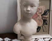 Large Female Chalk Ware Bust