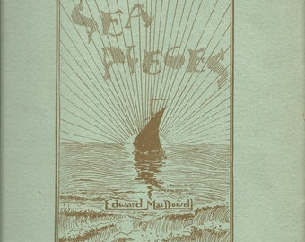 Vintage 1898 Sea Pieces Music Book