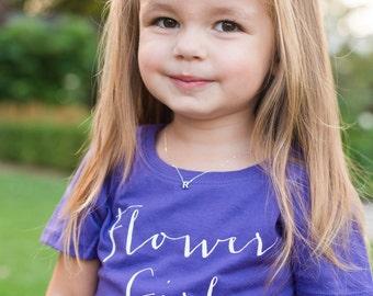 Flower Girl Tee. Flower Girl Shirt, Toddler Child, Junior Bridesmaid Tee, Bridal Shower Gift, Flower Girl Gift, Wedding, Bridesmaid Gifts