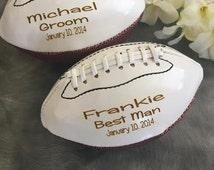 Personalized Mini Football, Ring Bearer Gift, Groomsmen Gift, Best Man Gift, Wedding Gift,