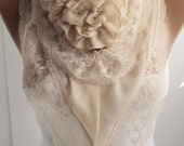 NEW Rose Scarf Ivory Victorian Shawl Scarf Rose Shawl Scarf Lace Scarf Winter Spring Christmas gift Fashion Women Accessories ForHer  DIDUCI