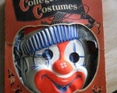 1950s Boxed Halloween Costume, Clown, Collegeville costume, with box, childrenslg 12-14, complete