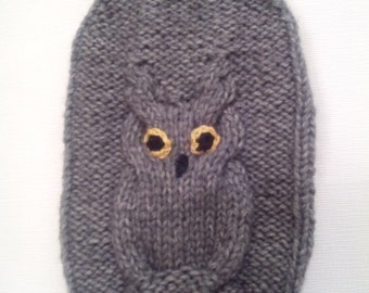 Grey dogs sweater with beautiful owl design-Chihuahua Sweater- Small Dog Clothing