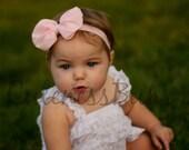 Pink Baby girl Headband, newborn headband, pink bow, Hairbow, Baby Bow, Head band, baby girl Headband, head band, fluffy bow, newborn bow