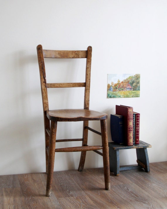 SALE Antique Church Chair Old Wooden Chair From Church In