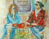 "Watercolor painting, original, not a print, ""Almost Famous"""