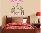 Princess Castle Decal Sticker for bedroom or nursery