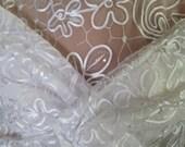 Ribbon tulle sheer wedding wrap