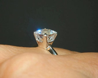 Cubic Zirconia Engagement Ring, Wedding Ring, Anniversary Ring, Ring With Square Stone