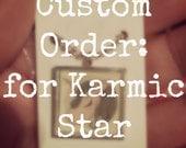 Custom Order for Karmic Star: Green Unicorn Resin Pendant