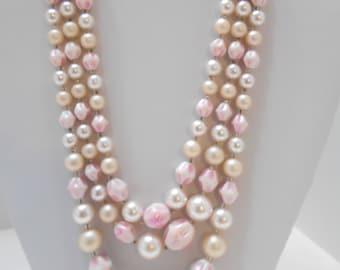 Gorgeous Triple Strands Necklace (7040) Japan