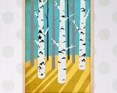 birch print - A4 size