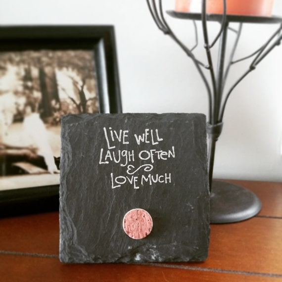 live well laugh often love much 4x4 by scatteredtreasures on etsy. Black Bedroom Furniture Sets. Home Design Ideas