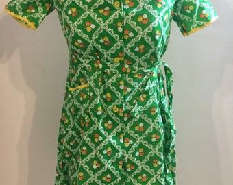 1970s Soviet green floral smock dress New with tags!