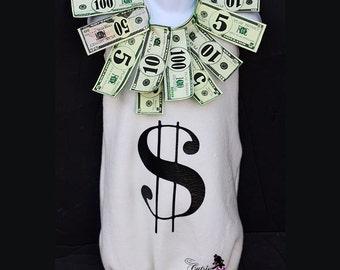Money Bag Halloween Costume - Baby Halloween Costume - Cash Costume - Baby Money Bag Costume - Money Bag - Money Dress - Dollar Sign