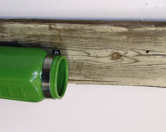 Green Reclaimed Wood Vase, Rustic Home Decor, Beach Home Decor.