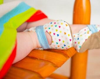 heart mary janes, baby girl shoes, rainbow mary jane baby shoes heart booties, elastic baby shoes for girl toddler mary jane booties hearts