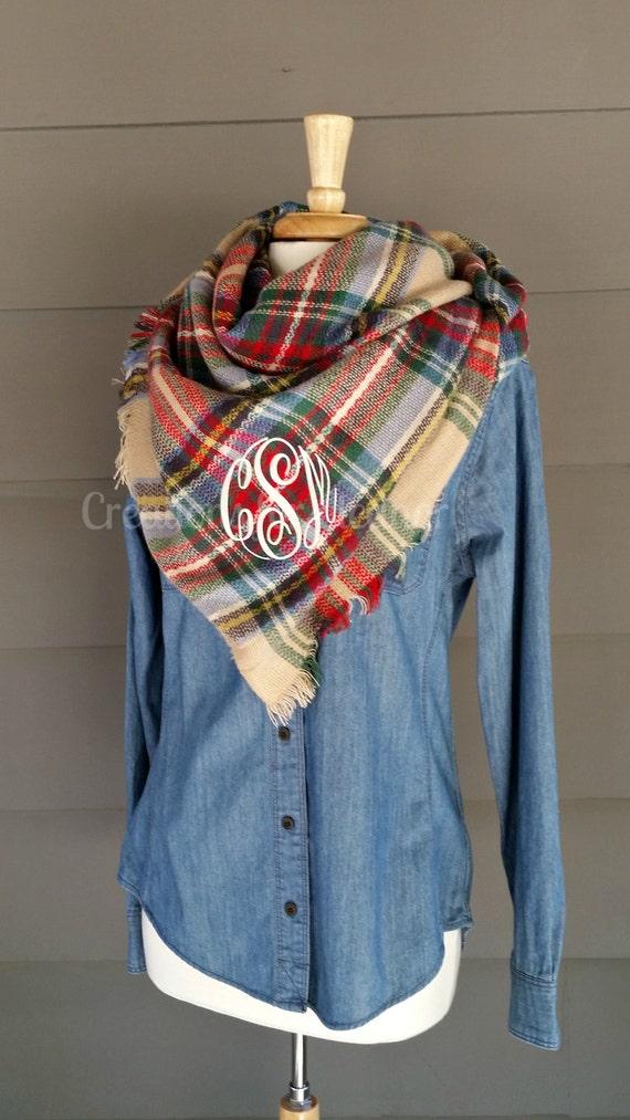 monogrammed blanket scarf blanket scarf monogram scarf