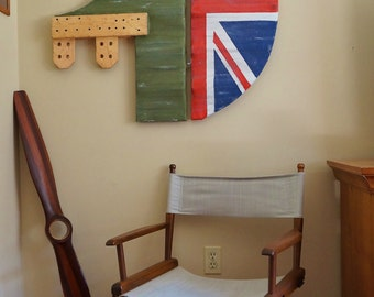 Airplane Rudder, Vintage Reproduction, Aviation Decor, British World War I