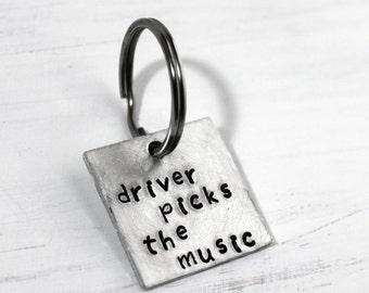 Driver Picks The Music Keychain, Shotgun Shuts His Cakehole, Fandom Key Chain