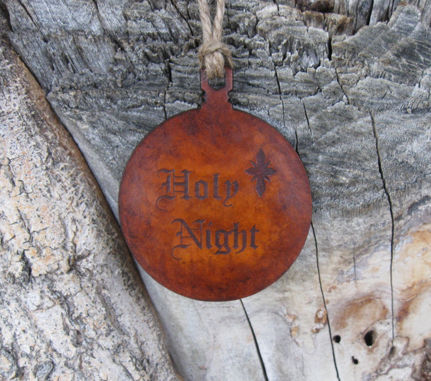 Vintage Religious Christmas Ornament: Christian Ornament Holy Night With North Star Ornament In