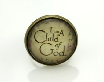 "RING ""I am a child of God """